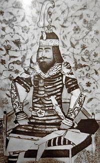 Тимур, портрет неизвестного автора, XV век, иранская миниатюра