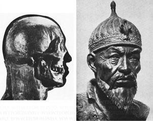 Восстановленный портрет Темарлана по черепу (метод Герасимова)