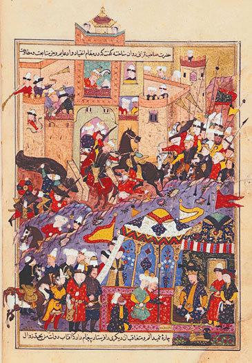 Тимур при осаде крепости Балх в 1370