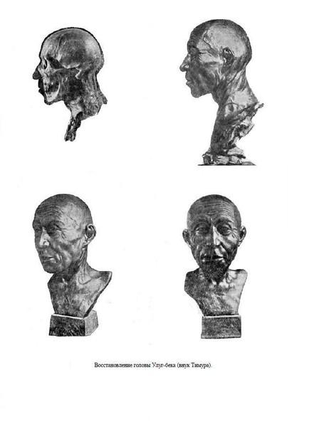 Восстановление лица Улугбека М.М.Герасимовым